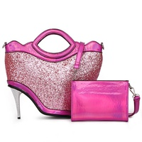 High Hill Glitter Metallic 2-in-1 Satchel