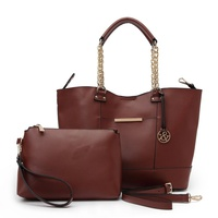 Fashion Tote With Inner Bag & Chain Handle