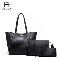 FASHION WOVEN BAG, CROSSBODY & WALLET SET