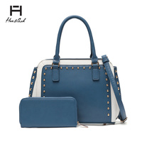 Fashion Top Handle Satchel & Wallet Set