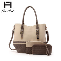 Fashion Top Handle Satchel & Wallet Set(3 in 1)