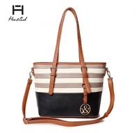 HUE &ASH STRIPED TOTE BAG