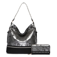 Metallic Colorblock 2-in-1  Hobo Bag
