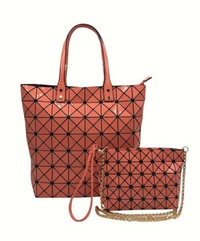 Geometric Checkered 2 IN 1 Shopper