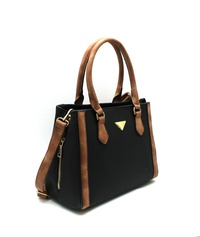 Triangular Logo 2 Tone Satchel