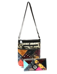 G STYLE CROSS BODYBAG WITH WALLET SET