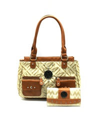 M STYLE HANDBAG WITH WALLET SET