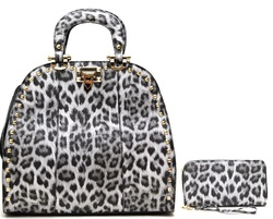 Leopard Print Wholesale Handbag (SET)