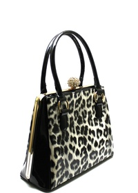 ANIMAL PRINT FASHION SATCHEL