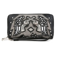 Dual Guns With Wings Wallets