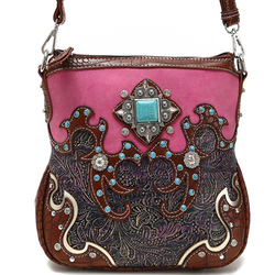 Western W/Concho Messenger Bag