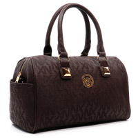 Embossed Signature Boston Tote