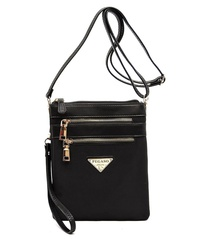 Zip Nylon Crossbody Bag Wristlet