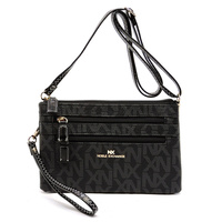 NX Signature Zip Crossbody Clutch Bag Wristlet