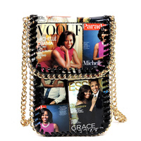 Magazine Cover Collage Chain Trimmed Cell Phone Case