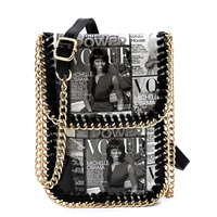 Magazine Cover Collage Chain Trimmed Large Cell Phone Case