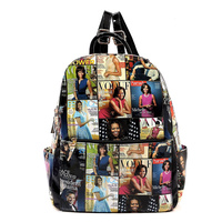 Magazine Cover Collage Bagpack