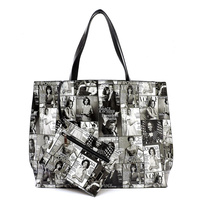 Magazine Cover Collage 2-in-1 Reversible Tote