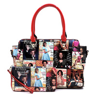 Magazine Cover Collage 2-in-1 Satchel