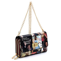 Twist Lock Double Zip Around Crossbody Clutch Wallet