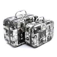 Magazine Cover Collage 2-in-1 Cosmetic Case