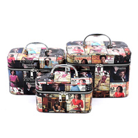 Magazine Cover Collage 3-in-1 Cosmetic Case