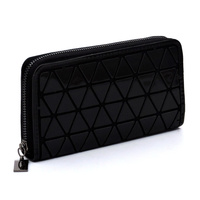 Geometric Checker Zip Around Wallet