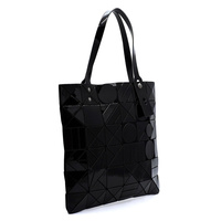 Geometric Checker Flat Tote
