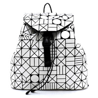 Geometric Checker Drawstring Backpack