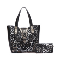 Leopard Western Buckle 2-in-1 Tote