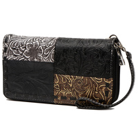 Ostrich Stitch Zip around Wallet