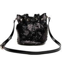 FASHION DRAW STRING SEQUIN SATCHEL