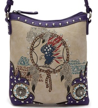 Western Dream Catcher W/ Eagle Messenger Bag