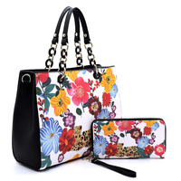 Flower Leopard 2-in-1 Satchel