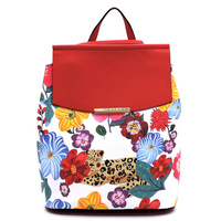 Flower Leopard Convertible Backpack
