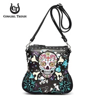 SUGAR SKULL MESSENGER BAG