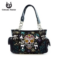 Western Special Sugar Skull Shoulder Bag