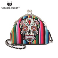KISS LOCK SUGAR SKULL BAG