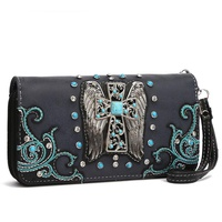 Western Cross with Wing Wallet Wristlet
