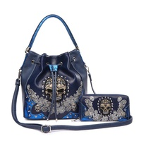 Skull Drawstring 2 IN 1 Shoulder Bag