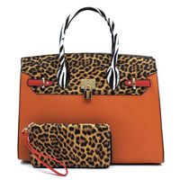 Leopard Zebra  Pad-lock 2-in-1 Satchel