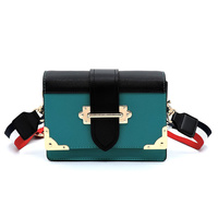 Colorblock Top Flap Crossbody Satchel
