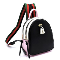 Colorblock Canvas Stripe Backpack
