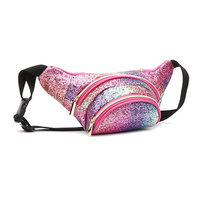 Glitter Metallic Fanny Pack Waist Bag