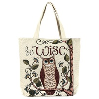 Fashion Owl Canvas Tote Bag