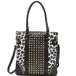 Fashion Tote bag with leopard print