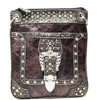 Western W/belt Decor Messenger Bag