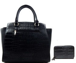 Fashion Croco handbag (set)