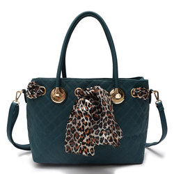 Fashion Handbag With Leopard Scarf