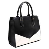 COLORBLOCK BOX SATCHEL HANDBAG